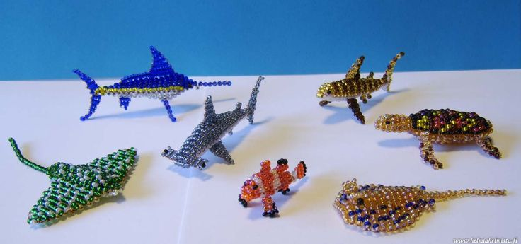 Beaded Fish.. lots of beaded animals at this site...