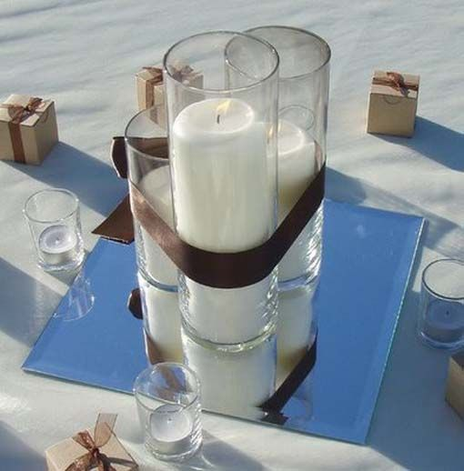 Easy Floating Candle Centerpieces: , Inexpensive Wedding Centerpieces