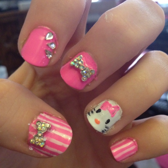 141 Best Hello Kitty Nails Images On Pinterest Hello Kitty Nails