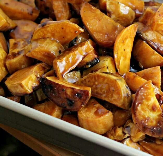 sweet potatoes in bourbon and maple sauce yum glazed sweet potatoes ...