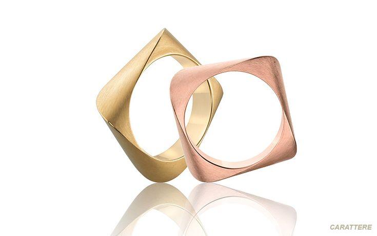 Vierkante ringen die heerlijk zitten: deze eyecatchers zijn rond van binnen. Ze dragen heel prettig en trekken zeker de aandacht!