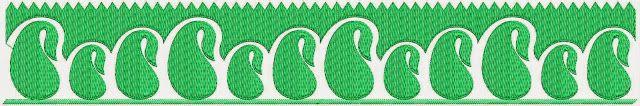 kontemporêre Paisley ontwerp Kant grens.