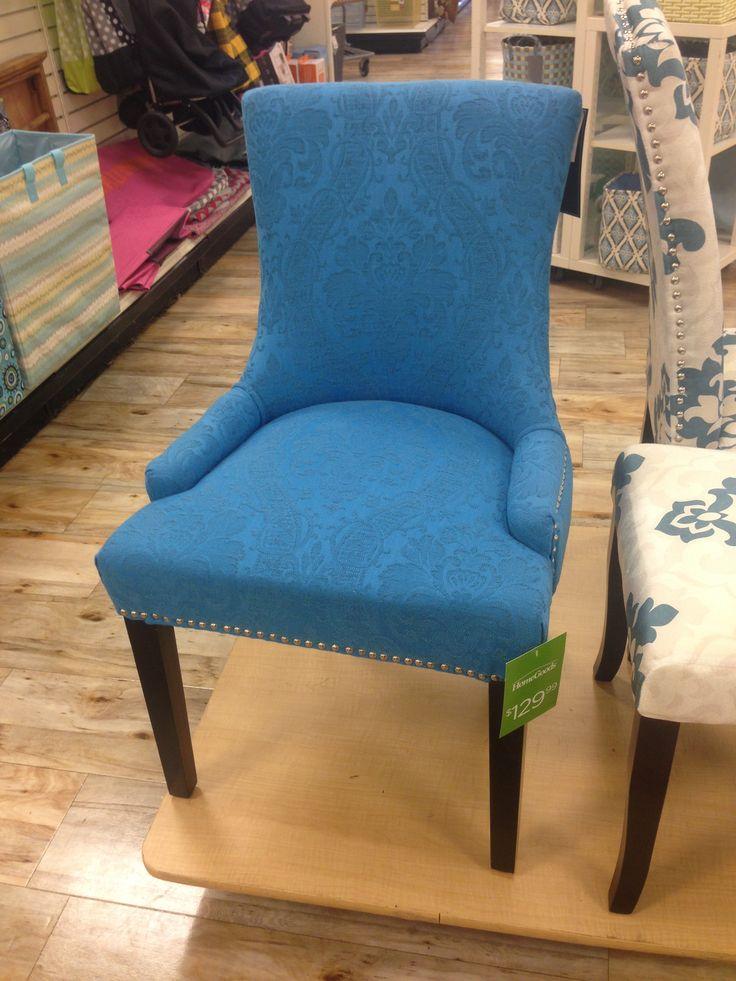 Blue Nail Head Trim Accent Chair