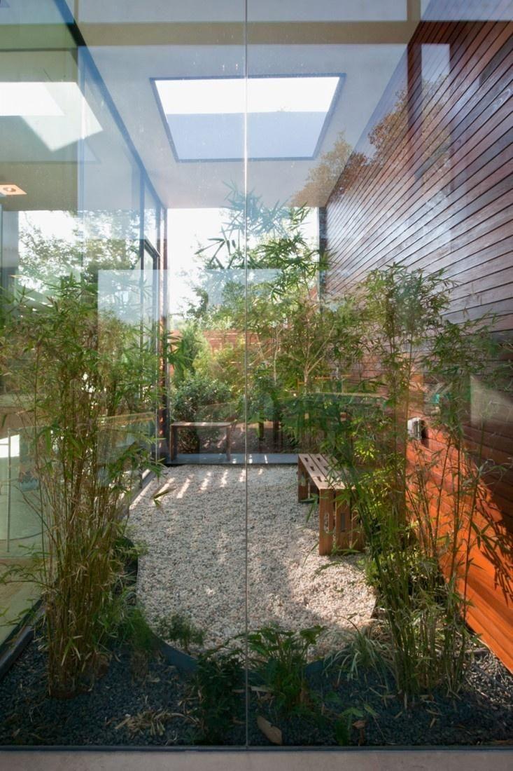 Jardim de Inverno com pedra brita branca