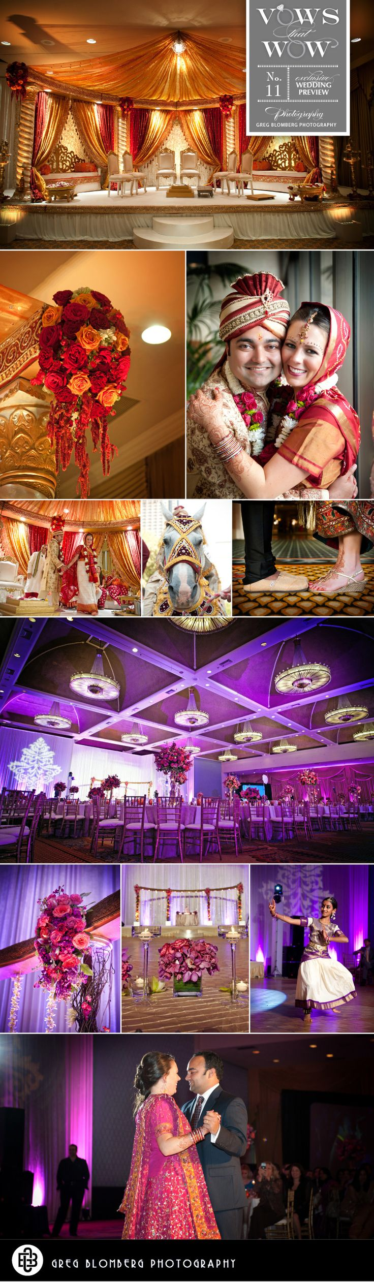 Colorful and elaborate Indian Wedding. Photos by Greg Blomberg Photography  #Indian #wedding #Dallas