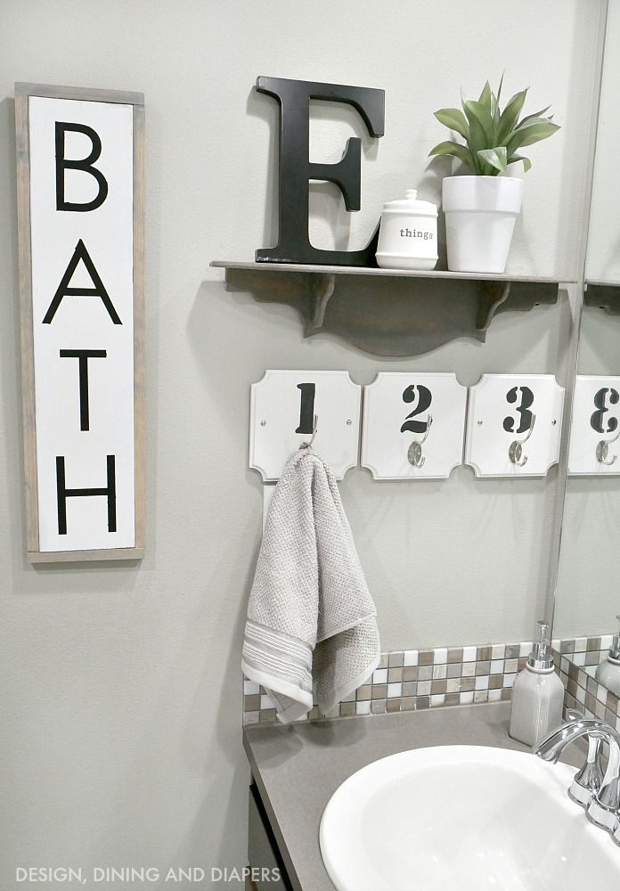 Black and White Bathroom Decor using @bhglivebetter products at @walmart #ad