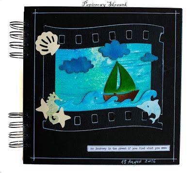Papierowy Skrawek: Art journal z tekturkami