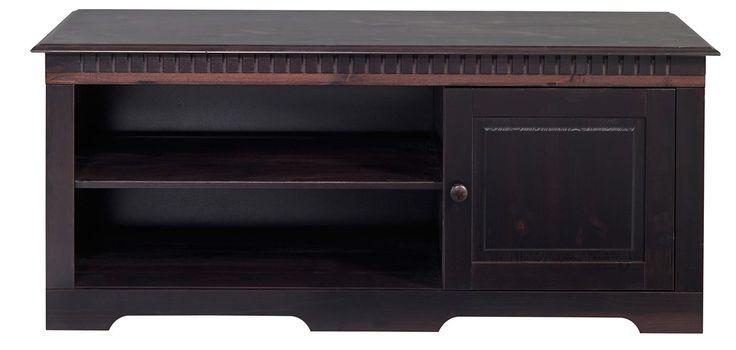 Details:  1 Holztür, Türanschlag rechts, 1 verstellbarer Holzboden, 2 Fächer, Fachinnenmaße (B/T/H): ca. 2x 74/38/18 cm, Innenmaße (B/T/H): ca. 1x 47/38/39 cm, 75 kg Belastbarkeit des TV-Oberbodens, Im Landhaus-Stil, Ideal für kleine Räume, Holzgriffe, Mit praktischer Kabeldurchführung,  Gesamtmaße:  (B/T/H): ca. 130/43/55 cm, Alles ca.-Maße.,  Material:  FSC®-zertifiziertes Massivholz,  Wiss...