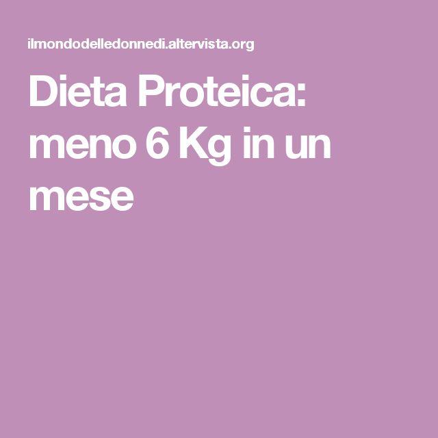 Dieta Proteica: meno 6 Kg in un mese