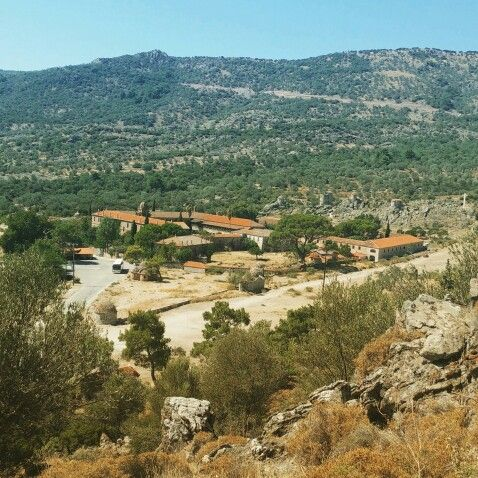 The gorgeous monestary of St. Ignatius, seen from up the hills (Lesvos, Greece)