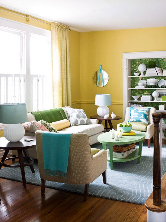 64 best yellow teal and red make me happy images on - Red and yellow living room decorating ideas ...