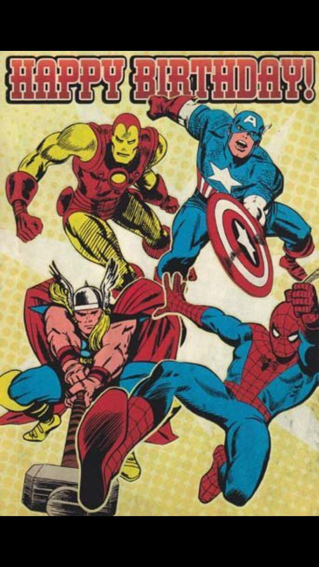 Happy Birthday from Marvel