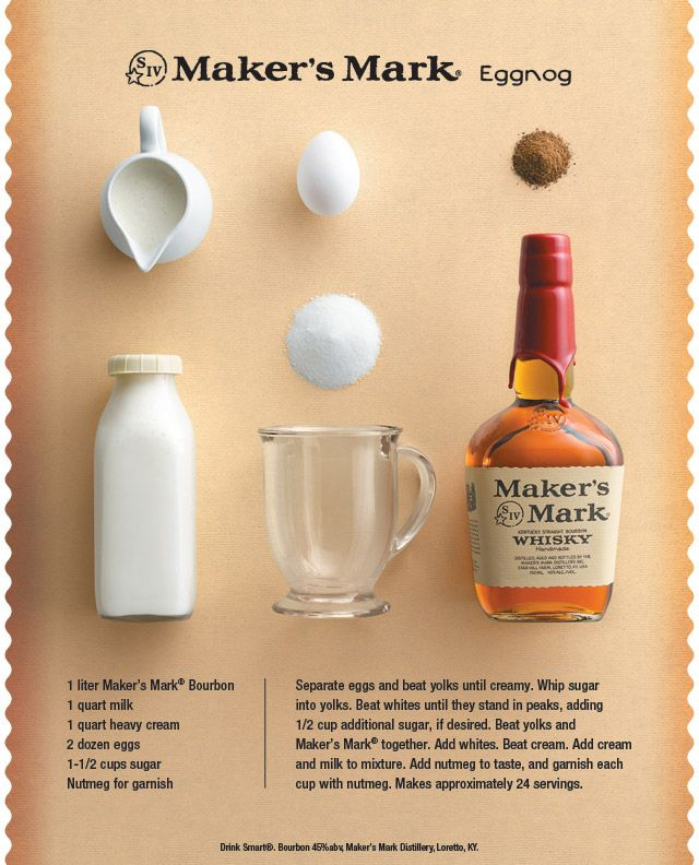 Make Bourbon Eggnog from scratch just in time for the holidays! #Homemade…