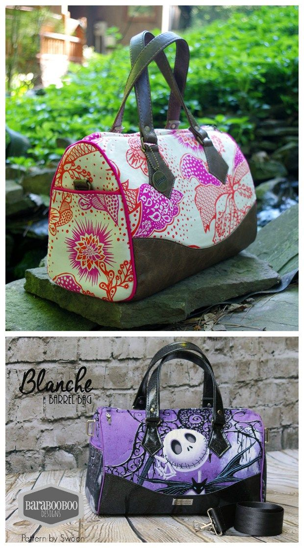 443398ccb6 Blanche Barrel Bag SWOON sewing pattern. Make this classic and timeless  shaped bag
