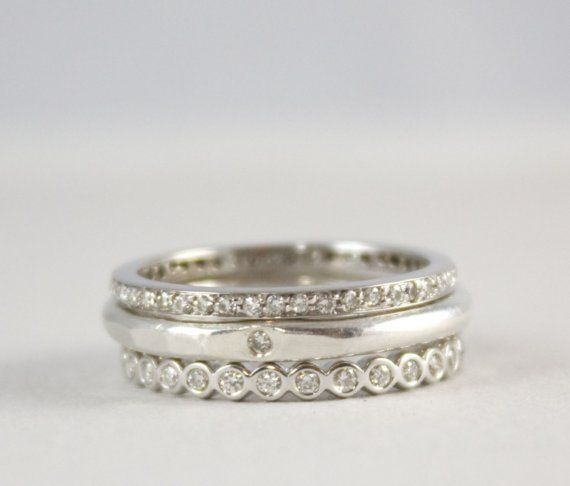Perfectly ImperfecT Stacking Ring in Shades of Gold - Made to Order for $620.00 at etsy.com