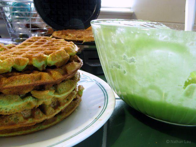 Pandan Waffles Breakfast Brunch Pinterest Waffles