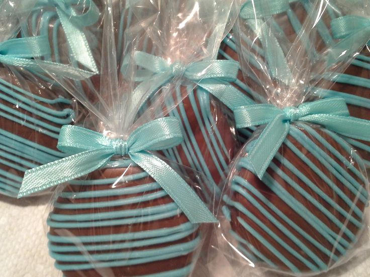 Milk Chocolate Covered Oreos Cookies Tiffany Blue Wedding Favors It's a Boy Christening Favors Tiffany Baby Shower Party Favors Communion. $16.00, via Etsy.