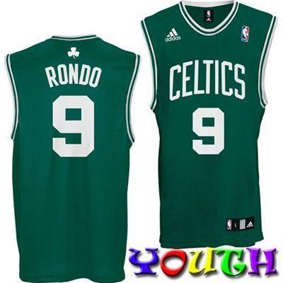 on sale 48b0c 9f1a5 discount code for boston celtics 9 rajon rondo green kids ...
