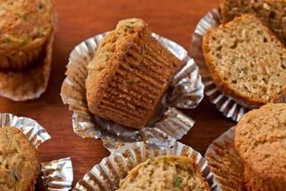 A zucchini muffin recipe with warm spices like cinnamon and nutmeg and packed with fresh zucchini.