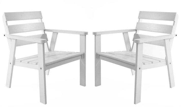 Ambientehome 2er Set Massivholz Sessel HANKO Stuhl Wei Jetzt Bestellen  Unter: Https://moebel.ladendirekt.de/garten/gartenmoebel/gartenstuehle/?uidu003d9f164e2f   ...