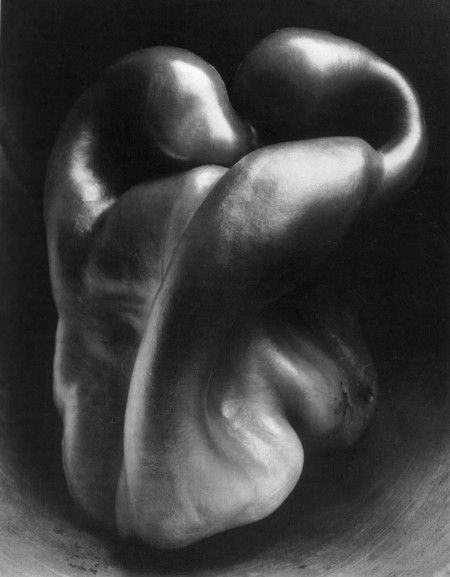 *Edward Weston - This is one of my favorite photographs because of how the subject is portrayed. Weston takes inanimate objects and gives them a almost human like quality. It's beautiful how these objects become subjects just because of how he uses the camera.