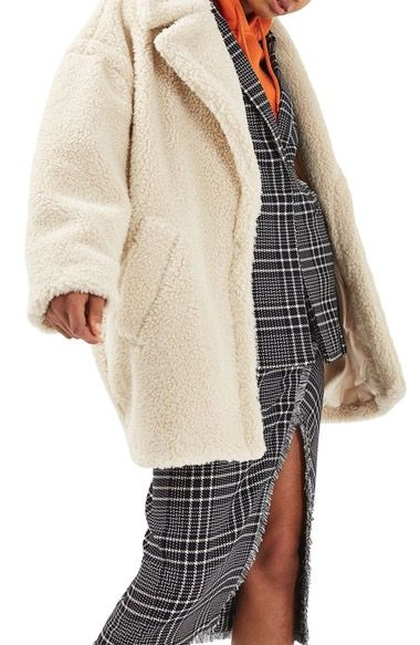 Topshop Borg Cocoon Coat available at #Nordstrom