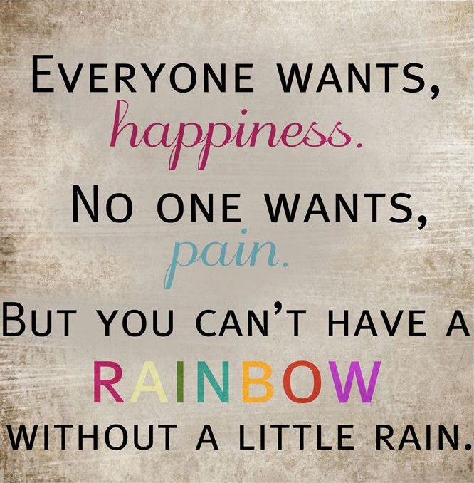 Image Quotes About Being Happy: Everyone Wants Happiness. No One Wants Pain, But You Can't