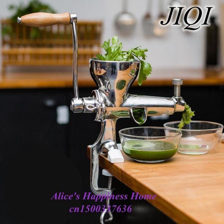 Acier inoxydable Main Herbe de blé Presse-agrumes, Tarière manuel Lent Jus De Fruits, agropyre, légumes, orange extracteur de jus machine