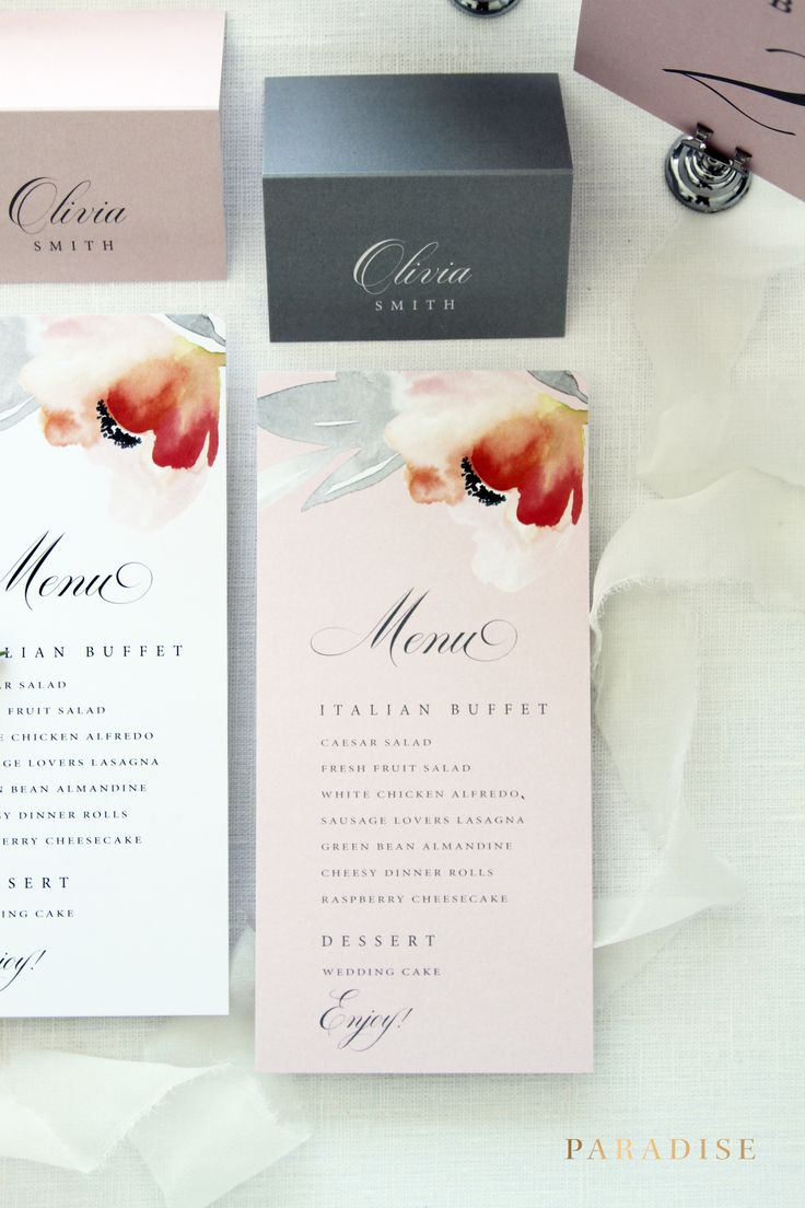 Best wedding menus images on pinterest