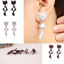free+shipping+1pair+3D+Fake+Gauge+Fimo+Fox+stud+earrings  Material+:+fimo Quantity+:+1pairs Color:+as+shown Condition+:+brand+new Packing+:+gift+box