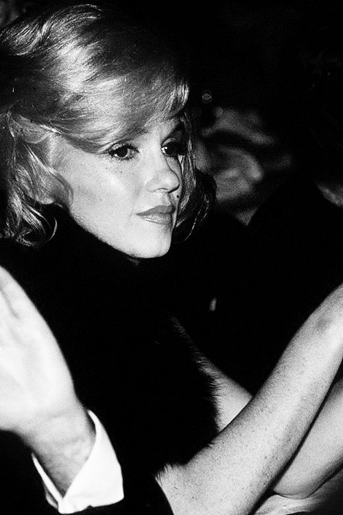 March 13th 1961: Marilyn Monroe attends the Actors Studio Benefit at the Roseland Dance Hall. Marilyn had only checked out of the Columbia-Presbyterian Hospital eight days before the event, which may have contributed to her lost and distant look during the evening.