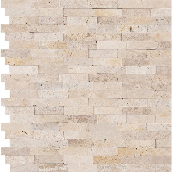 White Quarry 12 X 12 Marble Peel Stick Mosaic Tile In 2020 Travertine Mosaic Tiles Travertine Backsplash Kitchen