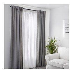 IKEA - MATILDA, Visillo, par, Los visillos dejan pasar la luz del sol pero proporcionan intimidad, por lo que son perfectos para ponerlos en una ventana junto a otras cortinas.Las presillas de la parte superior te permiten colgar directamente las cortinas a la barra.