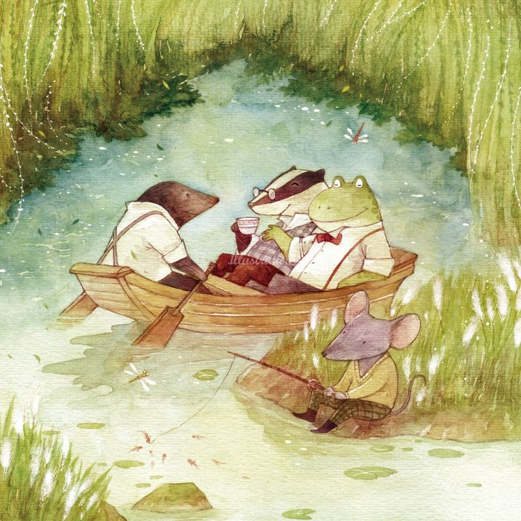 Mae Besom - An amazing artist! Wind in the Willows! So cuteeee!