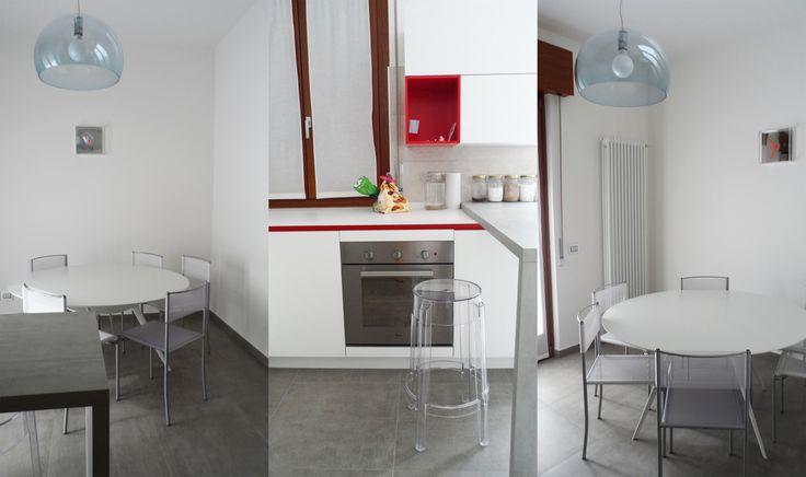 Less is more. Progetto personale, cucina e sala da pranzo.
