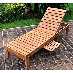 Deluxe Teak Chaise Lounge with Tray | Overstock.com Shopping - Great Deals on Chaise Lounges ...maybe I can make this