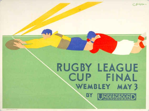 1930: 'Rugby League cup final' | 20 Gorgeous Vintage Posters For The London Underground