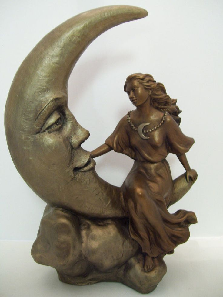 """++++++ $300 sold Austin Sculpture by Alice Heath """"Talking to the Moon"""""""