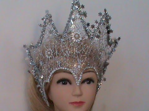 DIY/МК /Как сделать новогоднюю корону для Снежной Королевы - YouTube