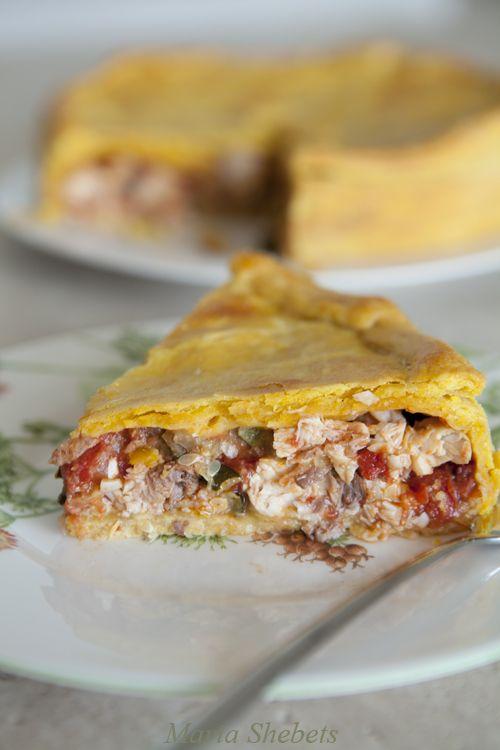 Рыбный пирог. Сицилийская кухня.