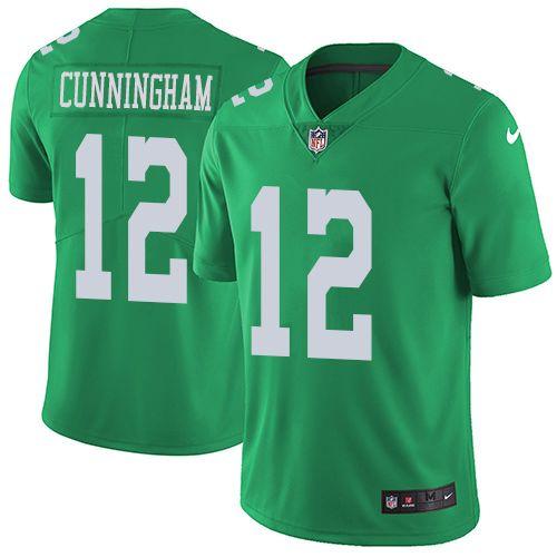 Men's Nike Philadelphia Eagles #12 Randall Cunningham Elite Green Rush NFL Jersey