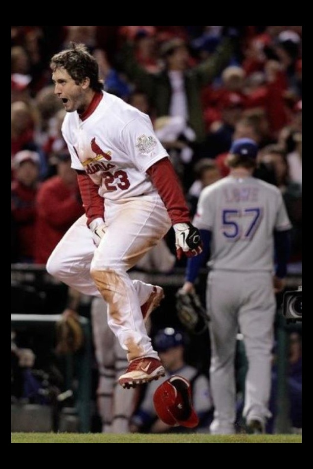 This was such an awesome night at Baseball Heaven - MVP David Freese!