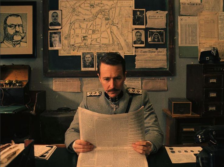 "Edward Norton as ""Henckels"" in Wes Anderson's THE GRAND BUDAPEST HOTEL"