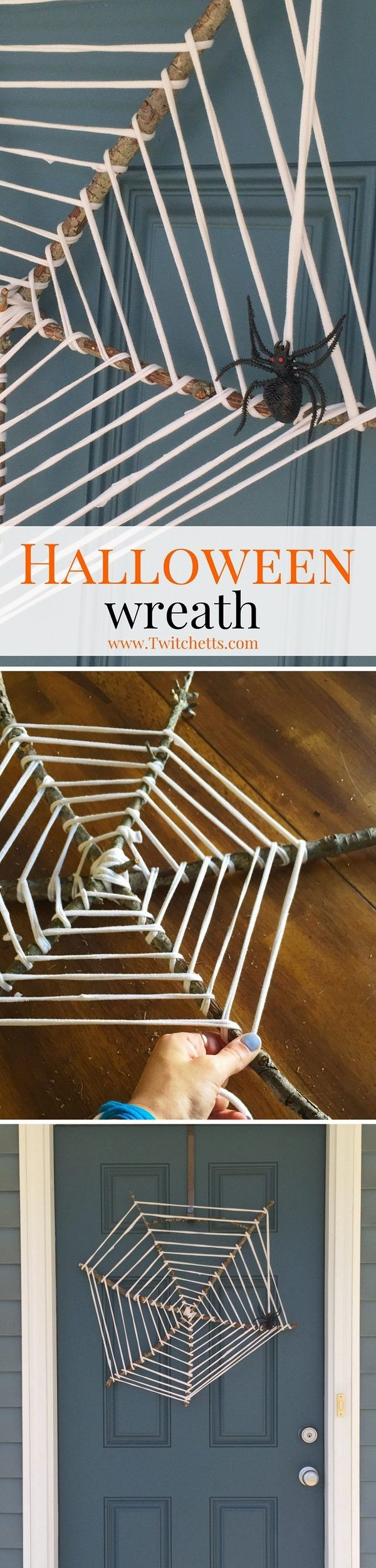 Check out the tutorial on how to make an upcycled #DIY spider web wreath for Halloween home decoration #Halloween #upcycle #repurpose #homedecor @istandarddesign