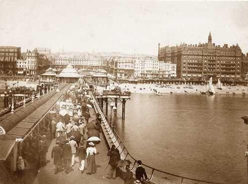 Victorian Brighton, West Pier circa 1890s, the  Pier was built in 1866 by Eugenius Birch