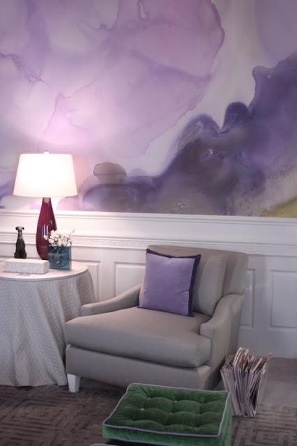 Watercolor Walls by interior designer Eileen Kathryn Boyd