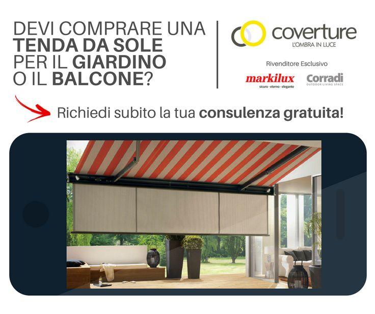 Devi comprare una tenda da sole per il tuo giardino o balcone? Clicca scarica la guida in PDF e richiedi una consulenza GRATUITA!  #coverture #markilux #corradi