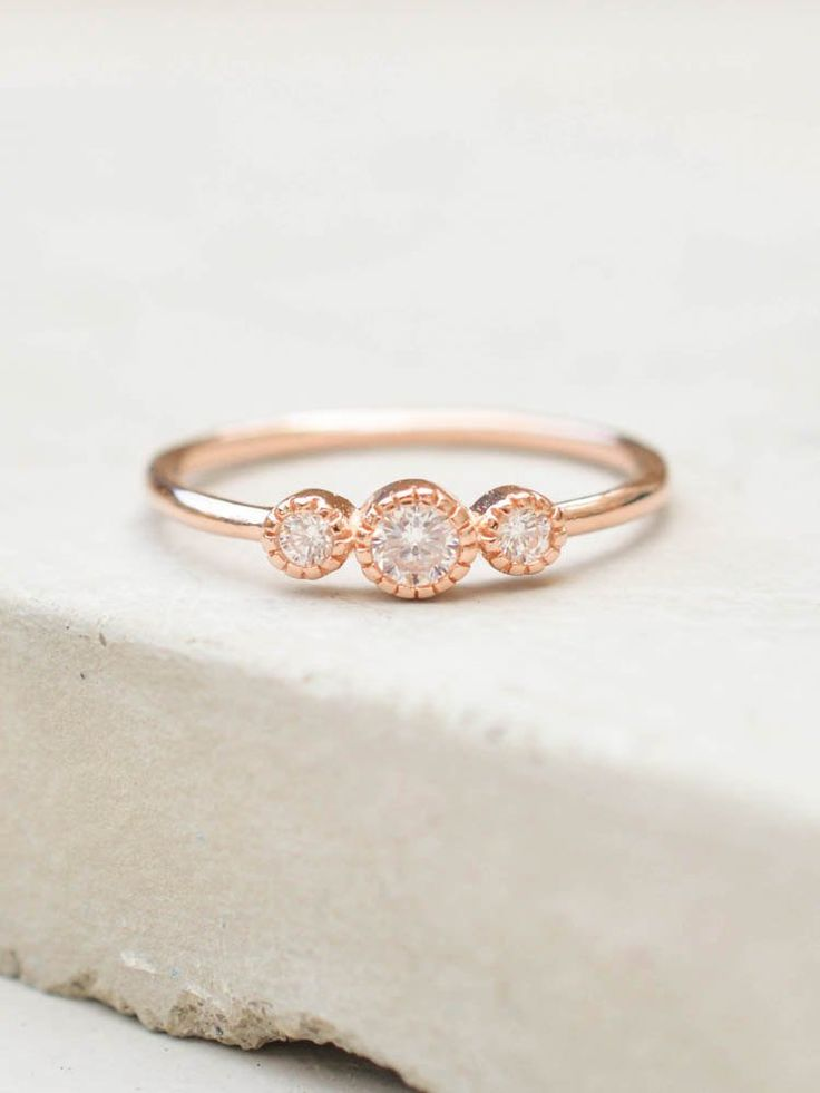 Best 25+ Rose gold rings ideas on Pinterest | Rose gold ...