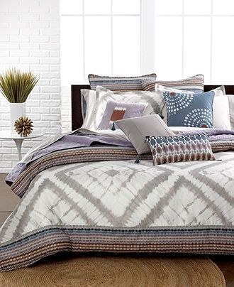 Echo Bedding, Tribal Blocks Comforter and Duvet Cover Sets - Bedding Collections - Bed & Bath - Macy's