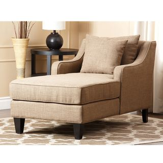 Abbyson Living Richmond Taupe Linen Chaise